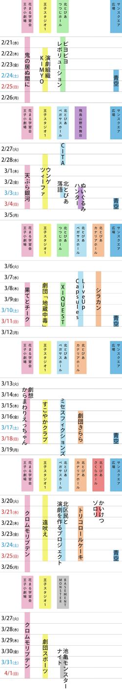 佐藤佐吉大演劇祭2018in北区スケジュール